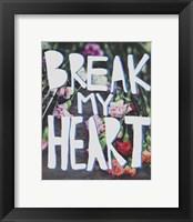 Framed Break My Heart