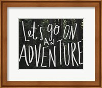 Framed Let's Go On An Adventure