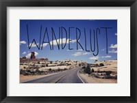 Framed Wanderlust Road