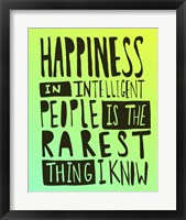 Framed Hemingway Happiness