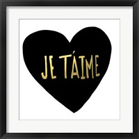 Framed Je T'aime Heart