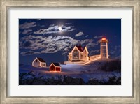 Framed Moon Over Nubble