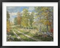 Framed Autumnal Blind Line