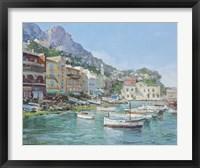 Framed Capri Harbour