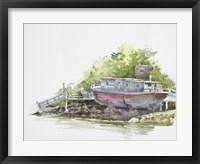 Framed Houseboat on the Shore