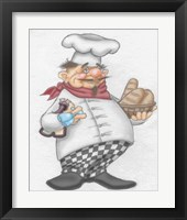 Framed Busy Chef