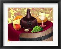 Framed Wine Time