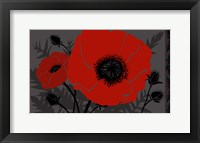 Framed Beautes Rouges III