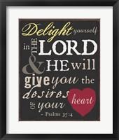Framed Psalm Saying I