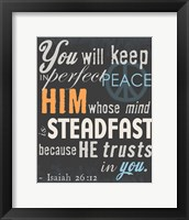 Psalm Saying II Framed Print