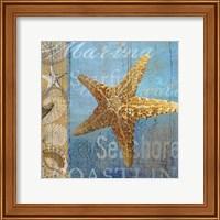 Framed Starfish and sea