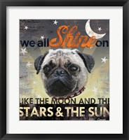 Framed Dog Days - Pug Pup
