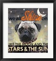 Framed Dog Days - Pug Pup