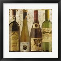 Framed Wine Samples of Europe I