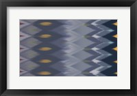 Framed Windy Rug Pattern in Blues
