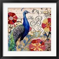 Framed Peacock Decore I