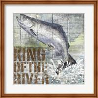 Framed Open Season King Salmon