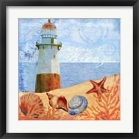 Framed Ocean Breeze Lighthouse