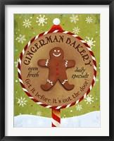 Framed Gingerman Bakery