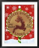 Framed Reindeer Lodge