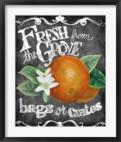 Framed Fresh from the Grove