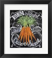 Framed Chalkboard Carrots