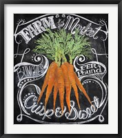 Framed Chalkboard Carrots