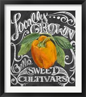 Chalkboard Pepper Framed Print