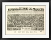 Framed Rutherford, NJ Vintage Map, 1904