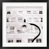 White Facade Framed Print