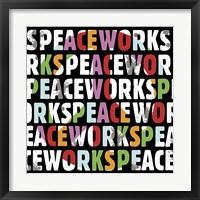 Peace Works Framed Print
