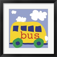 Yellow School Bus Framed Print