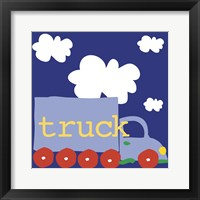 Blue Truck Framed Print