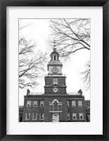 Framed Independence Hall (Center)