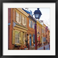 Framed Red Row I