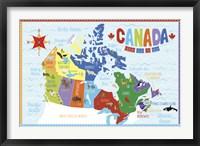 Framed Canada Map