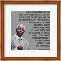 Framed No One - Nelson Mandela Quote