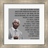 Framed No One - Nelson Mandela Quote
