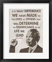 Framed Life We Lead - Nelson Mandela