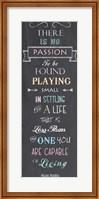 Framed Passion - Nelson Mandela Quote