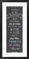 Framed Passion - Nelson Mandela Quote