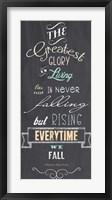 Framed Greatest Glory - Nelson Mandela Quote