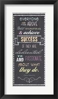 Framed Achieve Success - Nelson Mandela Quote