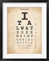 Framed Nelson Mandela Eye Chart II