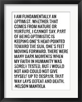 Framed Optimist - Nelson Mandela Quote