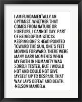 Framed Optimist - Nelson Mandela Quote