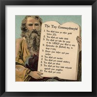 Framed Tablets of the Ten Commandments