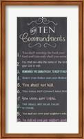 Framed Ten Commandments - Chalkboard
