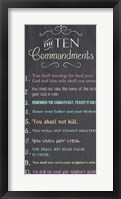Framed Ten Commandments - Chalkboard
