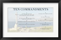 Framed Ten Commandments - Cross